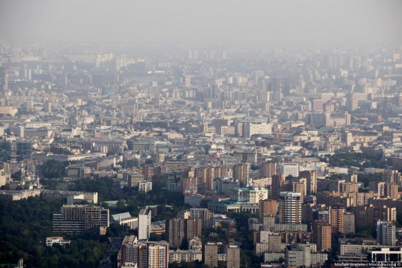 Вид на Москву с Останкинсой телебашни